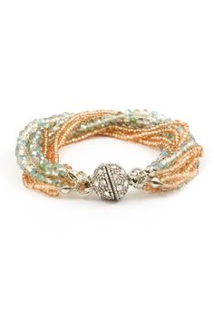 Danica Bracelet in Vitrail Mint and Champagne