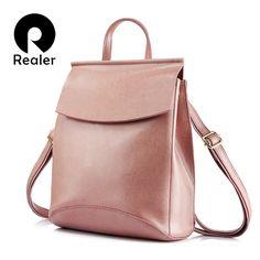 66a5d497449e ... женский рюкзак из высококачественной сплит кожи большого объема, рюкзаки  для девочек подростков школьные модные сумки на плечо купить на AliExpress