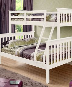 $379.99-BY DONCO KIDS - WHITE MISSION FULL & TWIN BUNK BED / PINE / MEAS. 59'' W X 78.5'' D X 62'' H