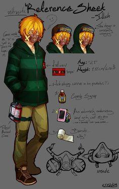 Erraday - original character Illich reference sheet