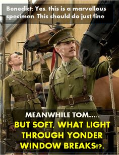 so funny.  I did not know these two were in a movie together and that it was War Horse.  I love War Horse and I specifically remember thinking, oh, cute guys...now I'm like, oh, THOSE cute guys.