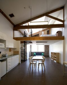 This is a good use of gable roof line, but AI imaging not within the budget of a granny flat Granny Flat Plans, Garage Renovation, Apartment Renovation, Indoor Places, Urban Loft, Scandinavian Home, Interiores Design, Decoration, Beautiful Homes