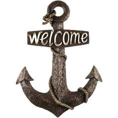 Wooden Anchor Wall Decor white wood anchor wall decor | nautical | pinterest | home, anchor