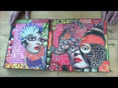 Art journal flip by Sandra van der Geest, inspired by Teesha Moore.  This is amazing.
