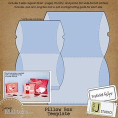 #10 Template - Pillow Box Template by Simply J Studio