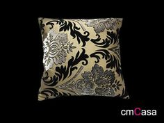 =cmCasa= 2093  Gold Foil Stamping Series Throw Pillow Case
