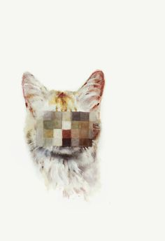 """""""The pixelation of these faces confounds our anthropomorphic projections and frustrates our tendency to want to read signs of temperament/character in our pet animals. A common reaction is to assume criminality – perhaps that's just a sign of watching too much Cops With Cameras."""" isobel wood"""