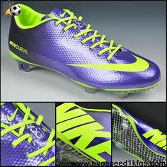 Sale Discount Deep Purple fluorescent green Nike Mercurial Vapor IX FG Soccer Boots For Sale