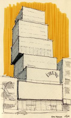 NY & Chicago Architecture Sketches by Cristián Bascuñán, via Behance