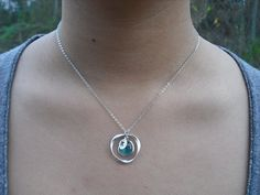 December Birthstone Necklace Bridesmaid Gift Blue Zircon