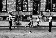 In Utica, NY, Ma and her sisters did this all the time as a kid -- double dutch -- I could never get the hang of it...