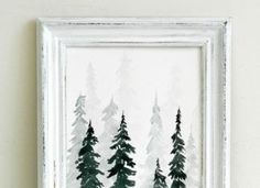 Watercolor Pine Trees Tutorial: How to Pain a Wintery Forestscape