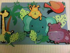 Safari themed cricut card