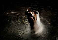 distinctive, modern wedding photo by top Houston wedding photographer Nhan Photography