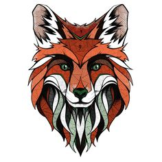 """""""Fox"""" Wall Sticker Decal Licensed by MY WONDERFUL WALL (Design: ANDREAS PREIS) (Germany) 