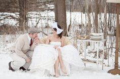 Can we please have pictures staged like this for you in the snow!? How adorable!