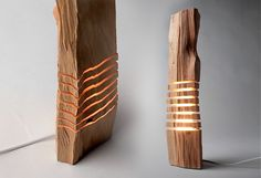 wooden sculpture   Illuminated Sculpture