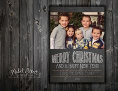 5x7 Printable photo Christmas Card by MabelStreet on Etsy, $12.00