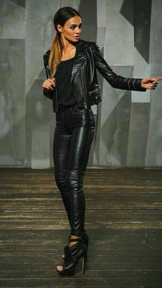 style fetish military Leather