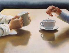 Confidants, pastel, 1994 by Deborah DeWit