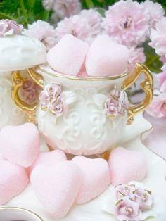 Romantic Pink Rose Sugar Bowl