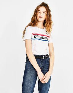 Camiseta algodón orgánico con texto