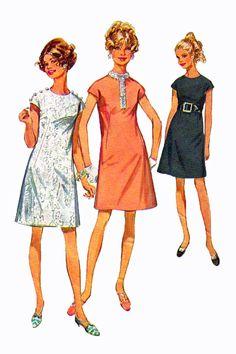 Simplicity 7980 1960s Plus Size Dress Sewing by retromonkeys, $6.00