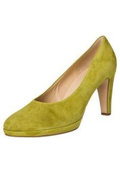 Højhælede pumps - grøn