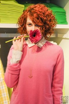 26. #Curly Red Bob - 40 Curly Hair Inspos That #Every Curly Girl Will Appreciate ... → Hair #Loose