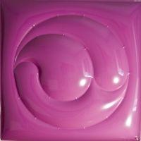 """F. Mazzucchelli, """"Senza Titolo 10"""", 2011, purple PVC, cm 100 x 100."""