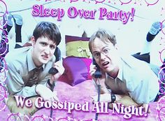 Sleep Over Party    The Office haha I never knew what this really looked like cus they showed it too fast... Now I can't stop laughing!!!!!