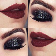 Tutorial – olho preto esfumado com glitter Mais