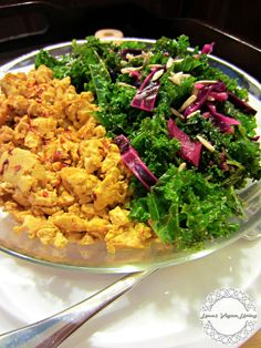 GURU SALAD WITH TOFU DELICATES ❤ VEGAN ❤ GLUTEN FREE ❤ COST EFFECTIVE ❤ HIGH IN PROTEIN, ANTIOXIDANTS & MANY OTHER NUTRIENTS ❤  ANOTHER ONE OF MY SIMPLE LUNCHES ❤ IT CAN BE SERVED WITH TOAST OR ROAST POTATOES, SWEET POTATOES, MASHED POTATOES OR QUINOA.  BOTH RECIPES  ARE ONE MY BLOG.