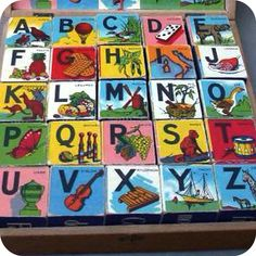 ALPHABET BLOCKS - Set of 5 Antique Wooden Blocks, Use for crafts, display, photo props, collectible. sur Etsy, 22,77€
