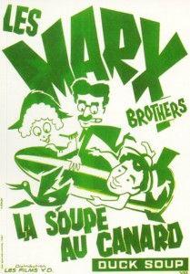"""La soupe au canard"" (""Duck Soup"") (1933) The Marx Brothers, by Leo McCarey (USA)"
