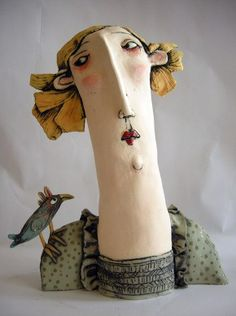 ☥ Figurative Ceramic Sculpture ☥  Sarah Saunders