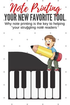 If your piano student is struggling with note reading, he or she would benefit from lots of note *printing* practice. Find out why and how in this post. Piano Lessons, Music Lessons, Physical Education Games, Health Education, Music Classroom, Music Teachers, Music Theory Games, Guitar Classes, Make Mine Music