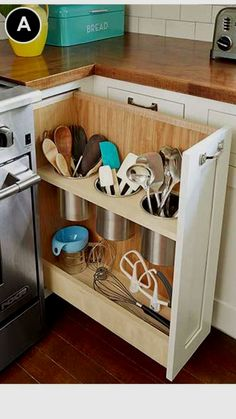New DIY kitchen drawers - Kitchen Decor Tidy Kitchen, Diy Kitchen Storage, New Kitchen Cabinets, Kitchen Drawers, Kitchen Tops, Kitchen Redo, Kitchen Organization, Kitchen And Bath, Kitchen Utensils
