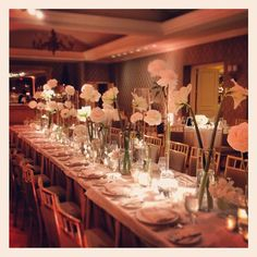 Head table goodness. Events by Jackson Durham #jacksondurham #headtablefloral #rosewoodmansiondallas