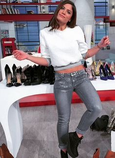 Cause she' s a girl! Leather Pants, Celebrities, Silver, How To Wear, Collection, Fashion, Leather Jogger Pants, Moda, Celebs