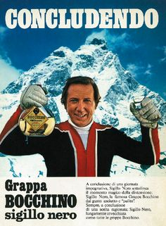 mike bongiorno | grappa-bocchino-mike-bongiorno - Quotidiano Piemontese Vintage Advertisements, Vintage Ads, Poster Vintage, Do You Remember, Vintage Italian, Advertising, Memories, Baseball Cards, My Love