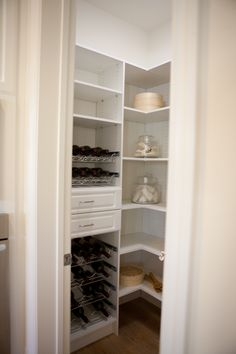 (Res 2) OPTIONAL KITCHEN PANTRY ORGANIZER- We showcase an optional pantry organizer system that helps you make small storage spaces work harder to give your pantry a clutter-free look. #new #homes #irvine http://cmmun.it/VO8wCo