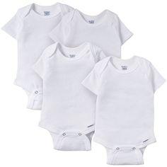 59dbe477eb 4-Pack White Organic Onesies® Brand Short Sleeve Bodysuits