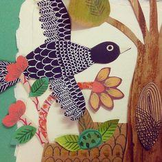 Work in progress de un nuevo Gabomundo :) #environment #illustration #picturebooks #birds #animals #nature #childrensbooks #artoftheday #folkart