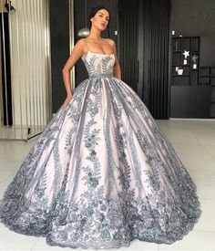 847c003c834 599 Fascinating blue ball gowns images in 2019