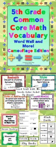 Grade Common Core Math Vocabulary Word Wall and More (Chevron Edition) Math Vocabulary Words, Math Words, Fifth Grade Math, Fourth Grade, Grade 3, Mastering Math, Math Word Walls, Teaching Math, Teaching Ideas