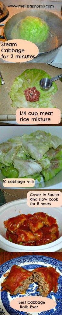 Slow Cooker Cabbage Rolls, def want to try this!