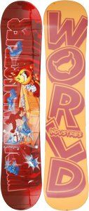 World Industries Fight Club 2 Youth Freeride Snowboard 135cm $116.99