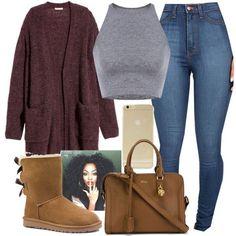 Boots women,Look preto total Cute Swag Outfits, Chill Outfits, Cute Comfy Outfits, Trendy Outfits, Teen Fashion Outfits, Look Fashion, Outfits For Teens, Fall Fashion, Fashion 2015