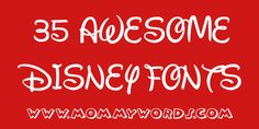 Free Disney fonts! From the classic font all the way to fonts from the titles of different movies!